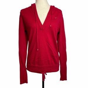 American Eagle Red V Neck Sweater Pullover size XL